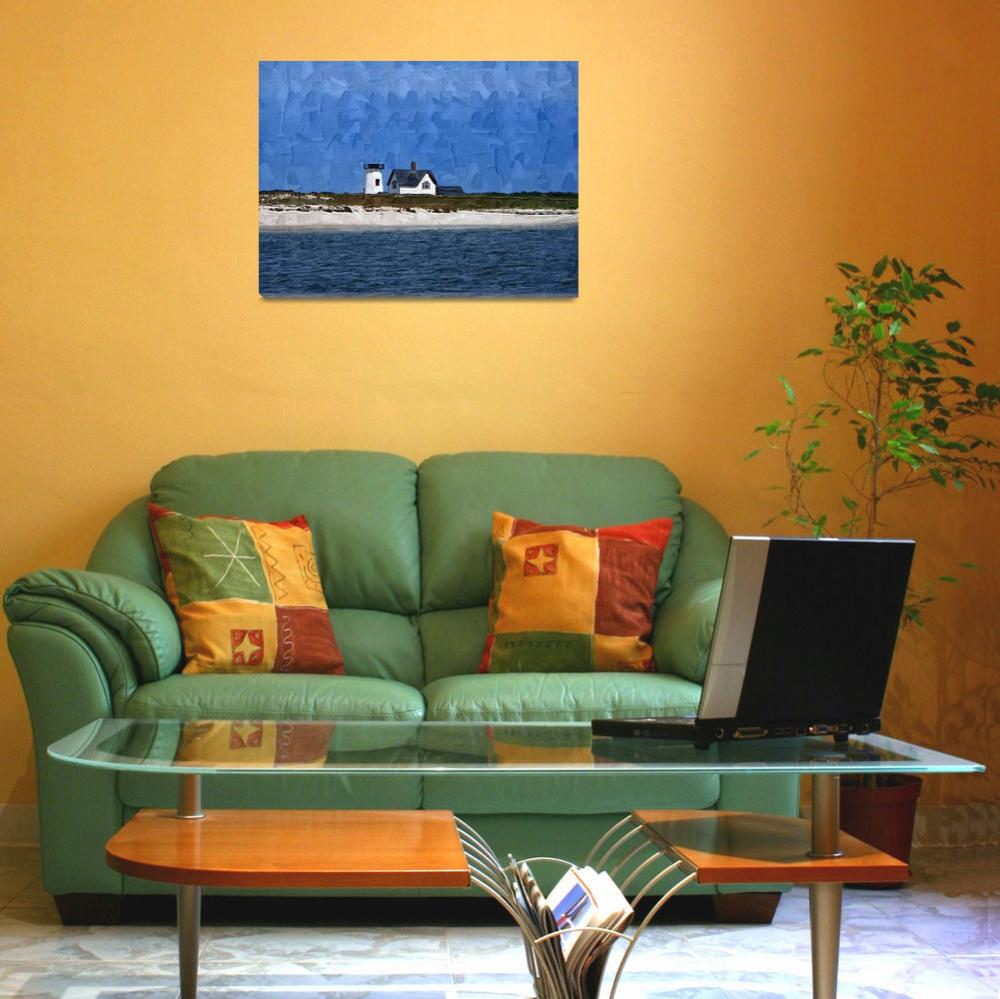 """""""ls-0002-06-0051- Cape Cod House-hd""""  by mdgphotoart"""