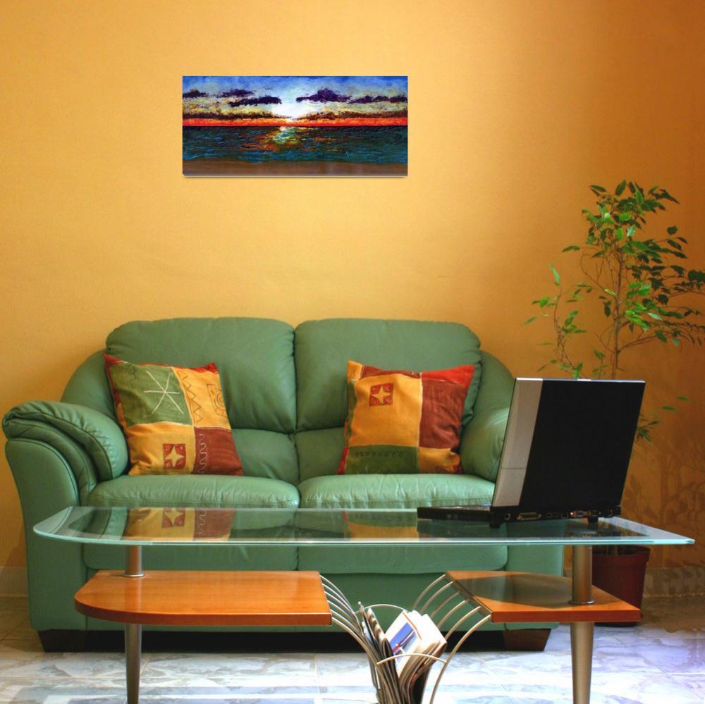 """Emerald Coast Florida Seascape Sunrise Painting&quot  (2015) by Ricardos"