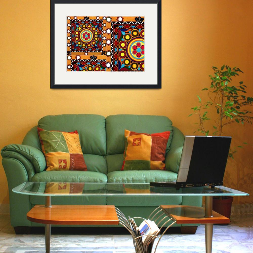"""""""""""Kutch Embroidery""""&quot  (2009) by leilasworld"""