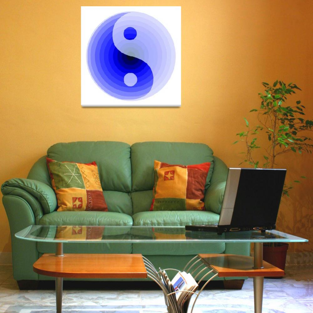 """""""zen blue motif""""  (2008) by AngelaHayden"""