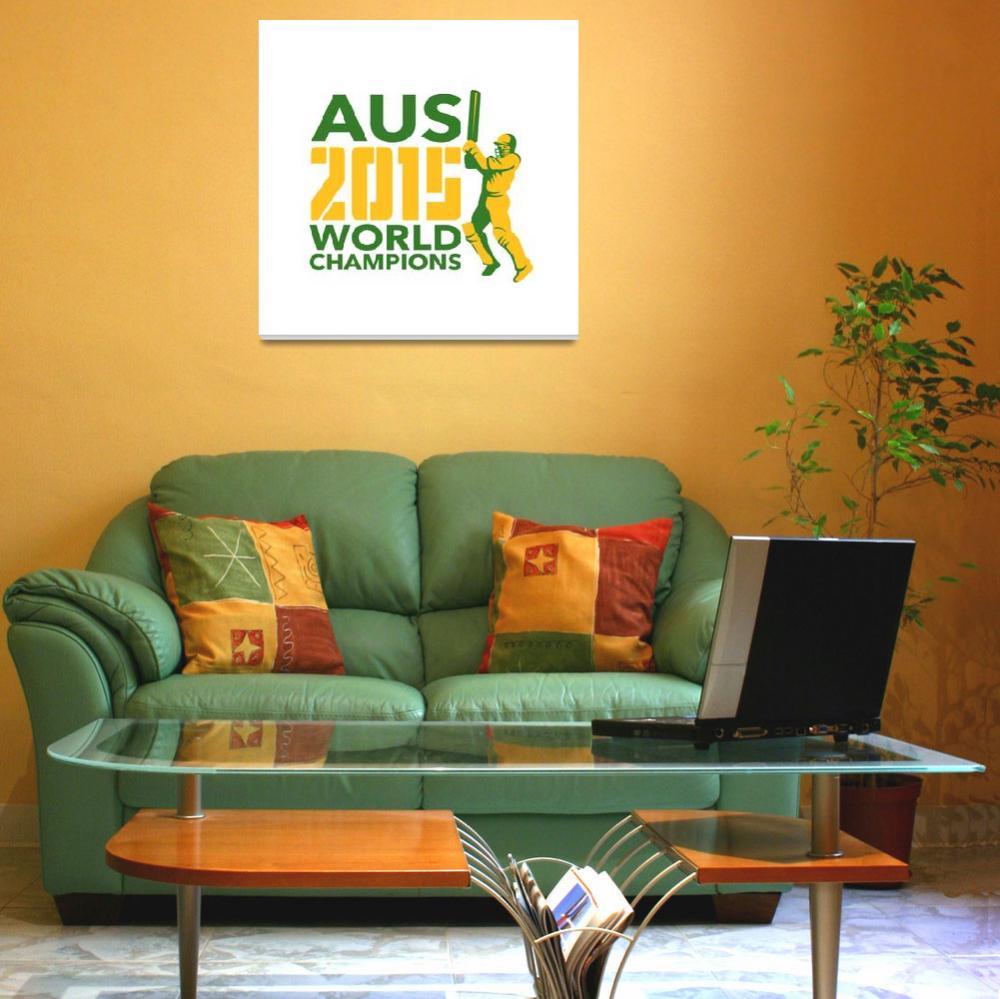 """Australia AUS Cricket 2015 World Champions""  (2015) by patrimonio"