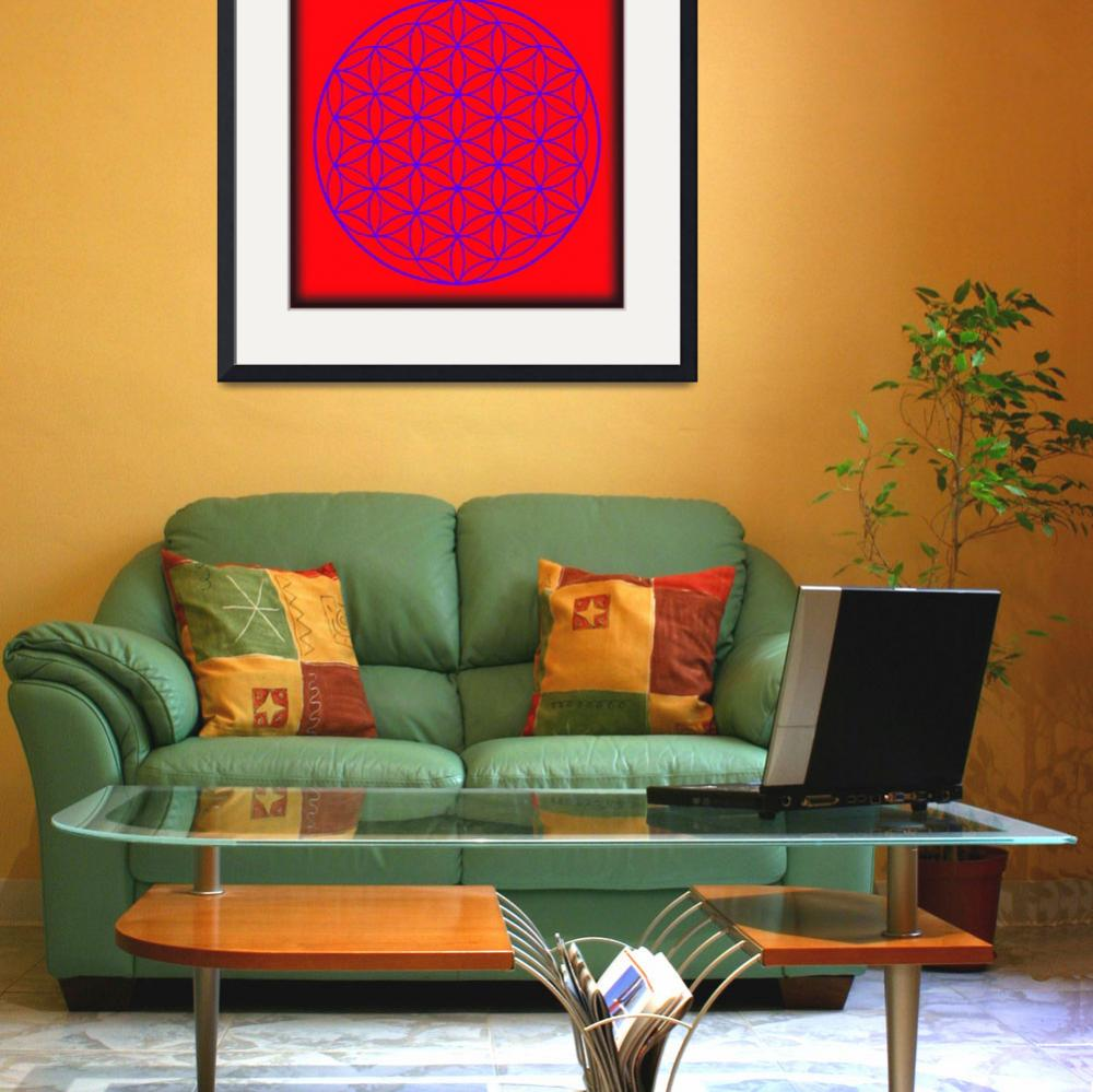 """""""Flower of Life in Red & Purple&quot  (2015) by MARIF"""