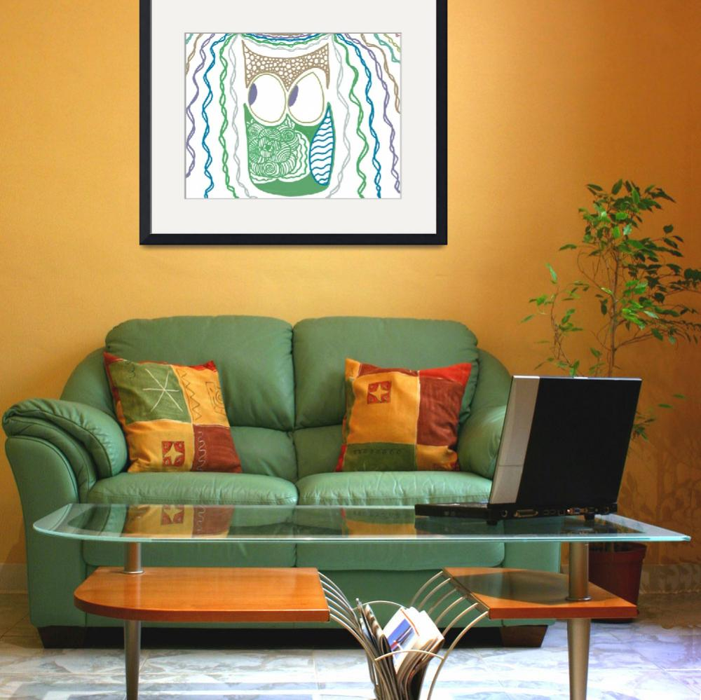 """""""Whimsical Owl&quot  (2013) by ShinyJill"""