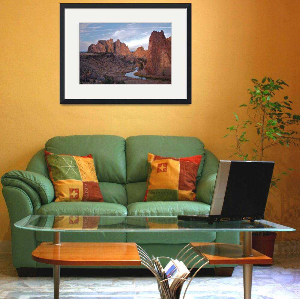 """Curve At Smith Rock (Color)&quot  (2006) by OlamMasterImagery"