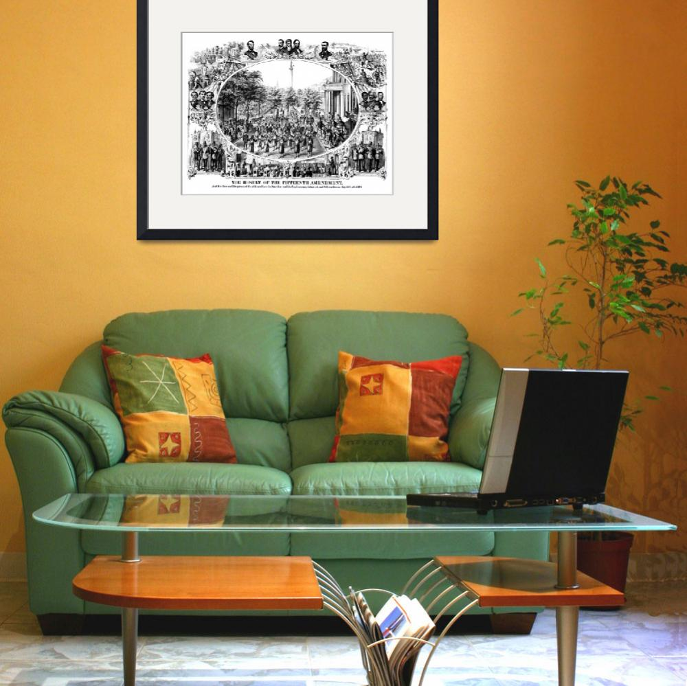 """DIgitally restored Civil War print depicting the 1&quot  by stocktrekimages"