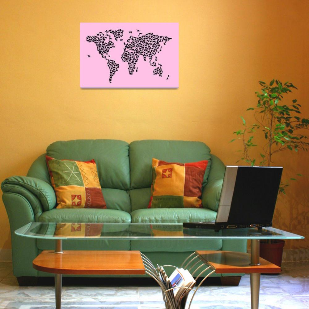 """Cats Map of the World Map""  (2017) by ModernArtPrints"