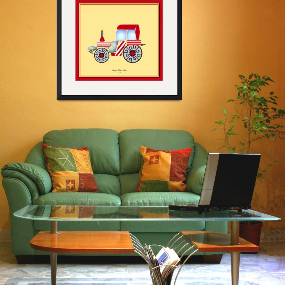 """""""Red Tractor&quot  (2009) by SherryHolderHunt"""