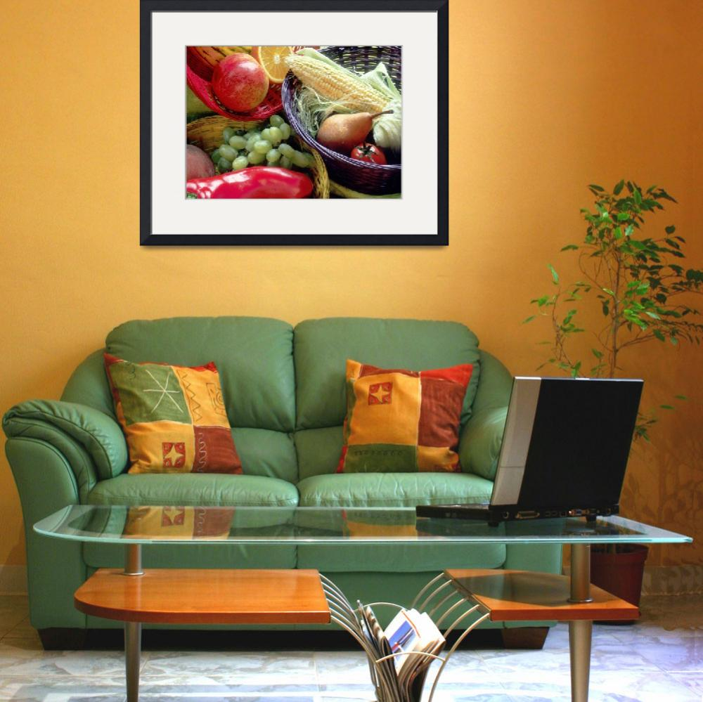 """""""Healthy Fruit and Vegetables&quot  by Alleycatshirts"""