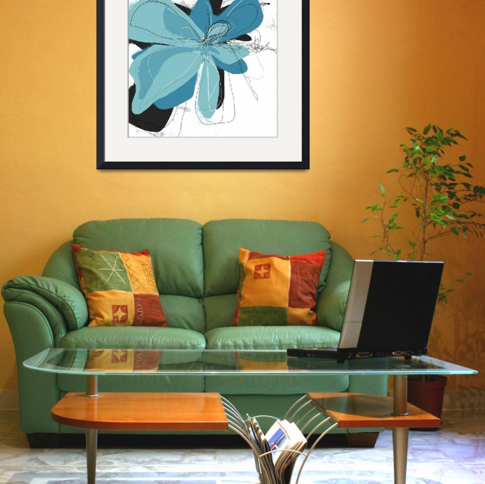 """""""Tiffany Blue Floral Two&quot  (2013) by TuesdayMoon"""