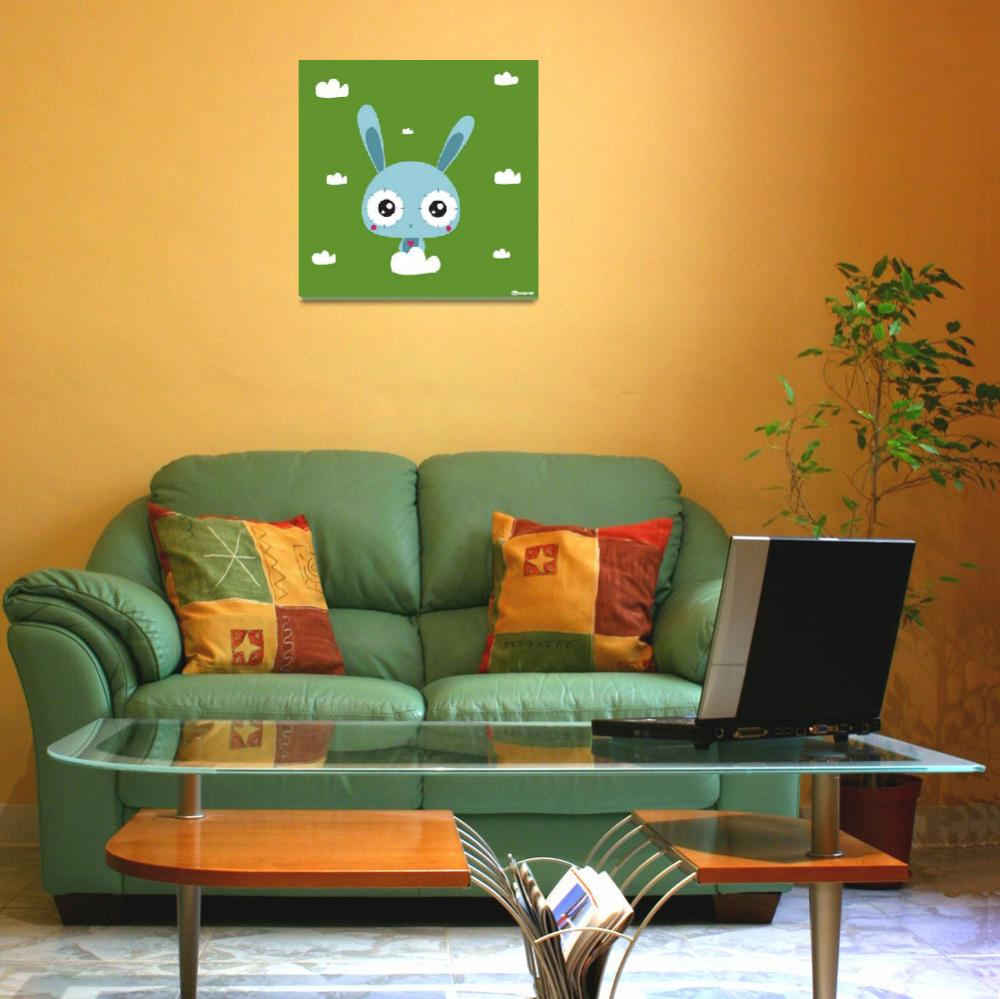 """""""stitchbunny float green&quot  (2013) by sabet"""