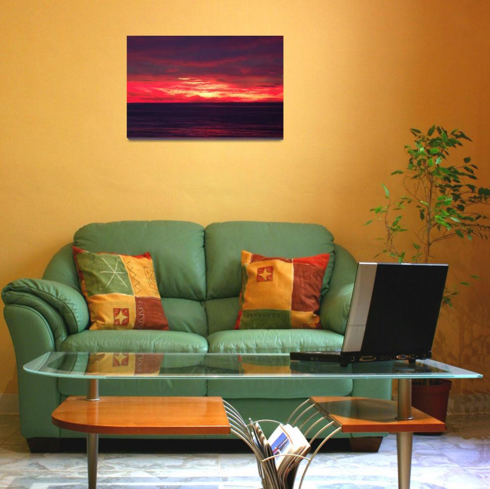 """""""Fire in the Sky - Beach Sunrise in Ocean City&quot  (2007) by travel"""