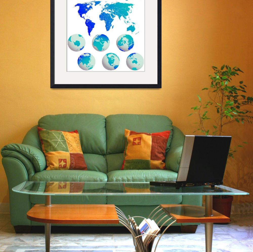 """""""world map and earth globes&quot  by robertosch"""