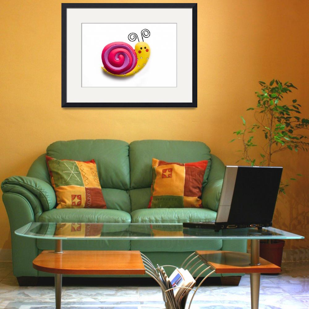"""""""Bright and funny toy snail""""  (2011) by Kybdica"""
