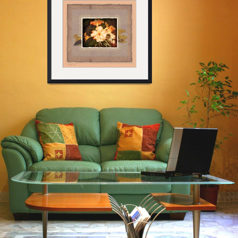 """""""Hawaii yellow hibiscus collage print dkr&quot  (2007) by eyecontact"""