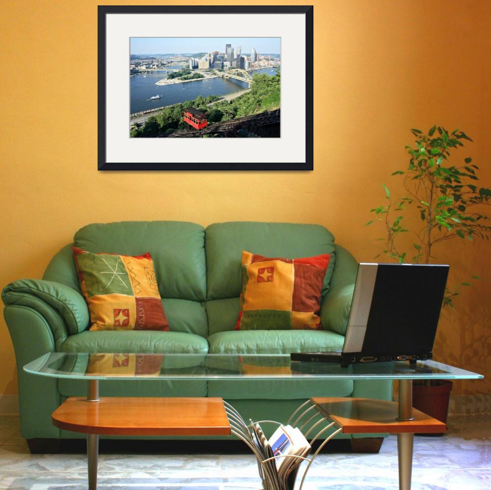 """""""Pittsburgh Skyline&quot  (2012) by christiancarollo"""