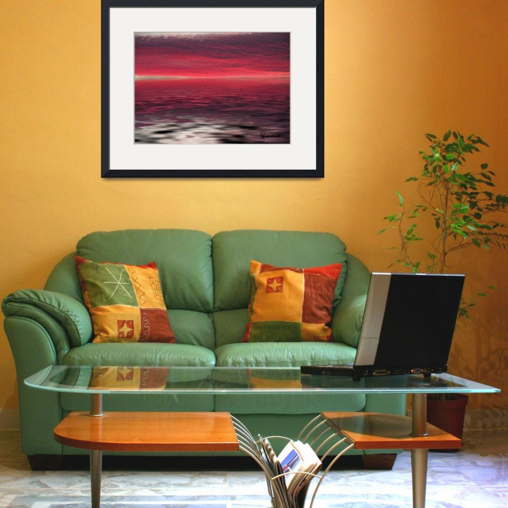 """""""Pink and Gray Sunset&quot  (2011) by Attentiongetters"""