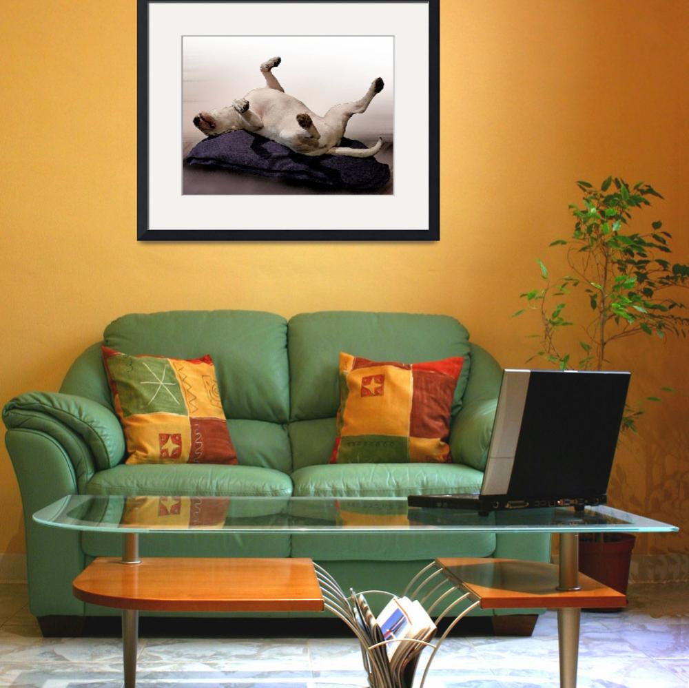 """""""Engish Bull Terrier, Watercolor Style Print&quot  (2008) by ModernArtPrints"""
