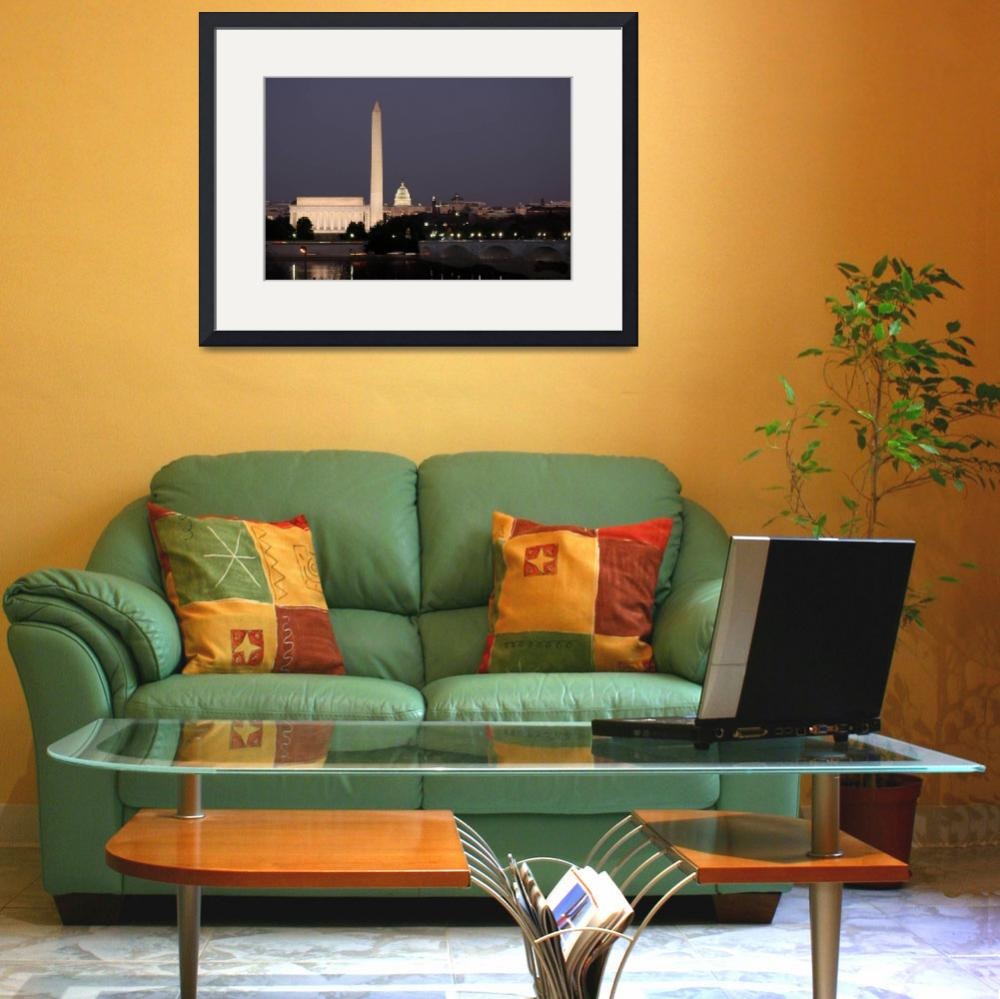 """washington dc skyline night scene&quot  (2007) by dcphoto"
