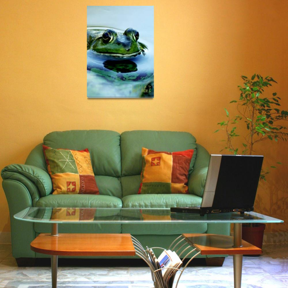 """""""Frog Watching You Watching Me""""  (2011) by PhotographsByCarolFAustin"""