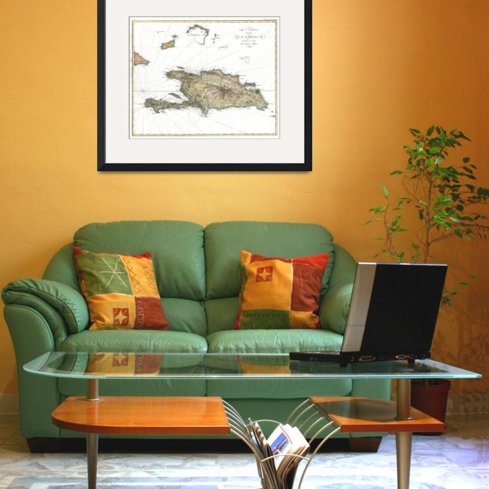 """""""Vintage Map of St. Domingue (1802)""""  by Alleycatshirts"""