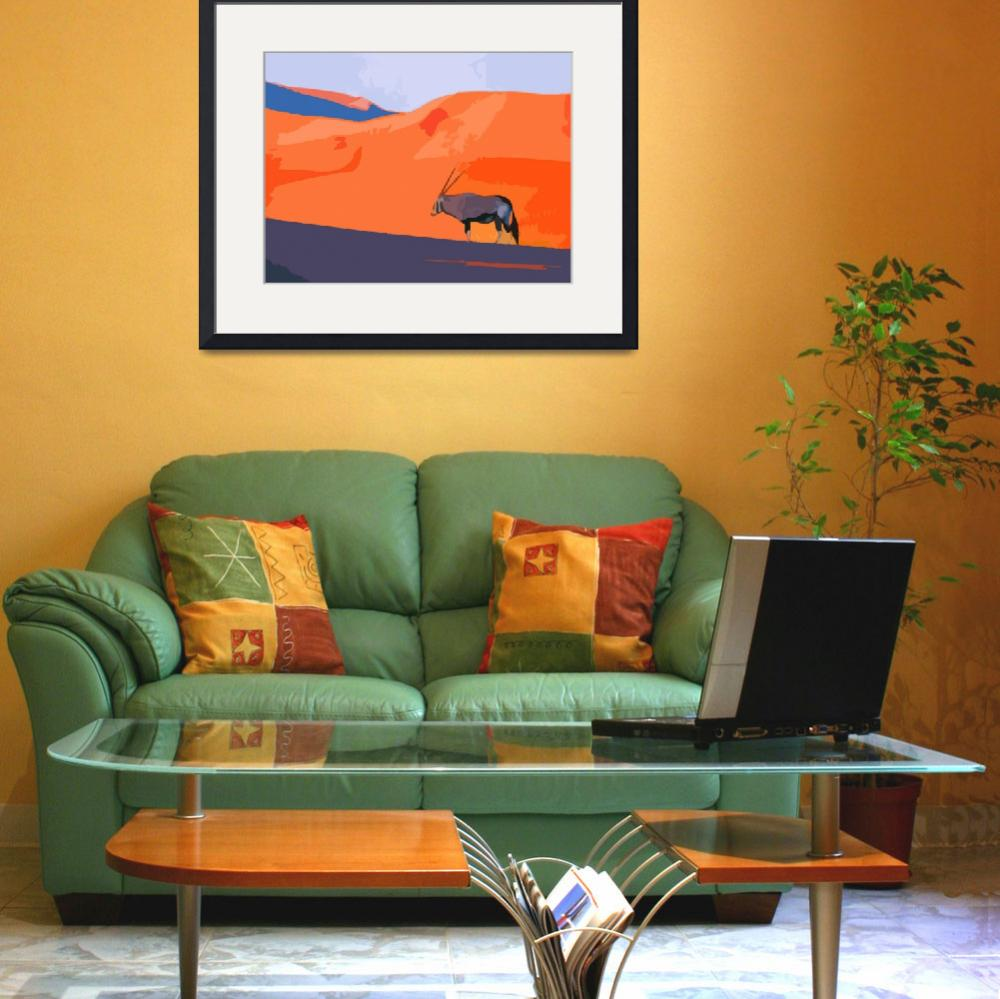 """African Oryx""  (2010) by whitewallgallery"
