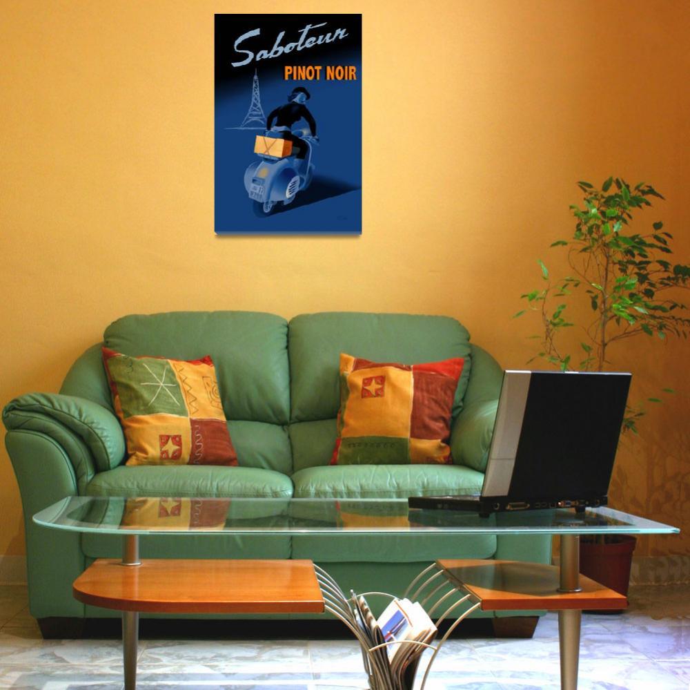 """Saboteur pinot noir poster&quot  (2008) by badvamps"