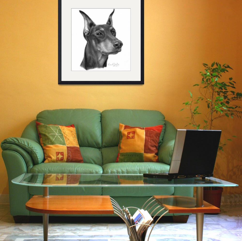 """Doberman Pinscher with Cropped Ears&quot  (2007) by sdonley"