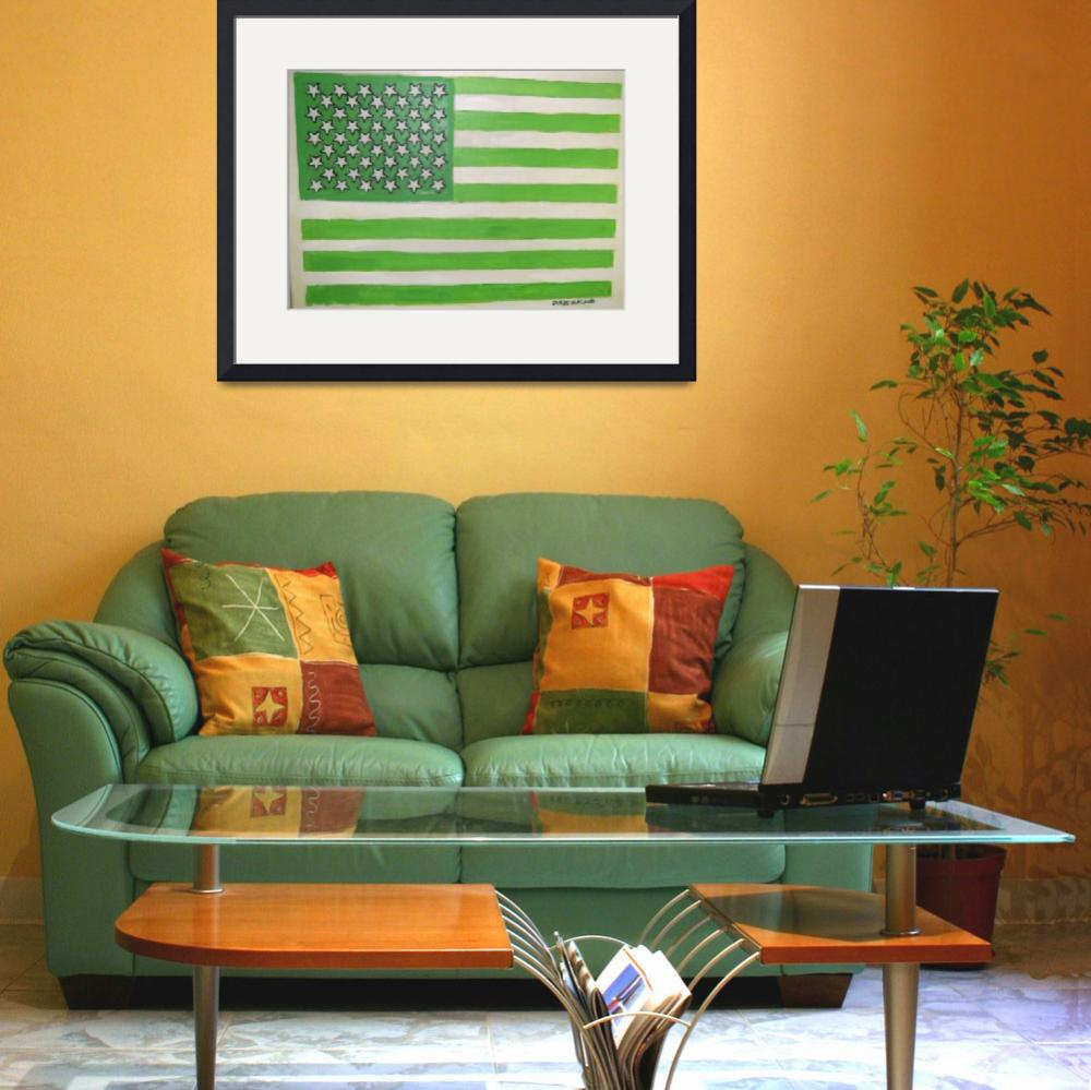"""USA  GOES  GREEN!!&quot  (2008) by malone"