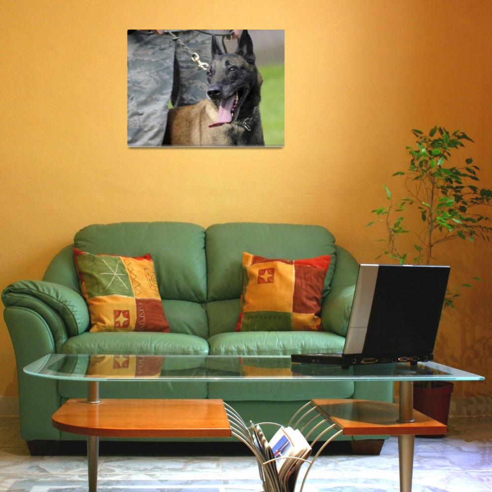 """""""Smiling Belgian Malinois Dog&quot  by Alleycatshirts"""
