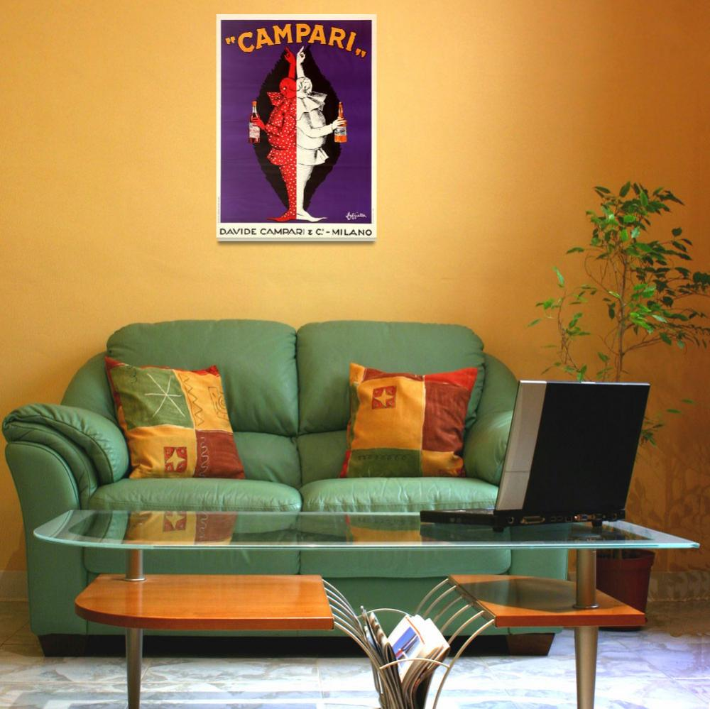 """Campari Vintage Liquor Poster&quot  by FineArtClassics"