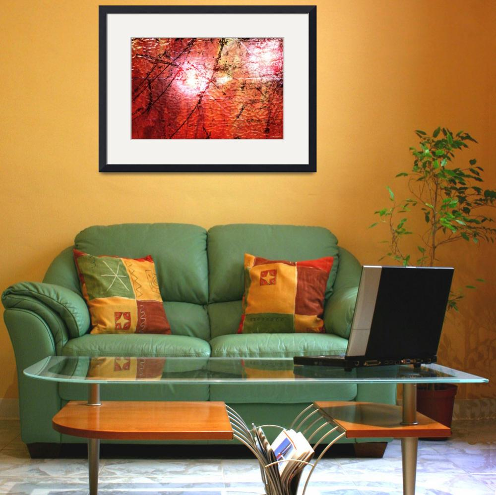 """""""Abstract Red""""  (2011) by ArtByManfred"""