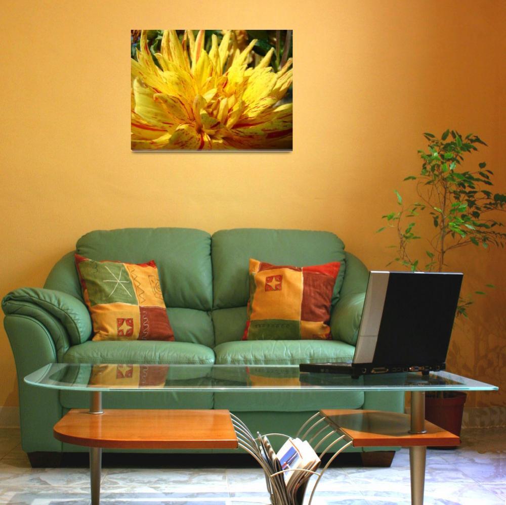 """CHRISTMAS ART GIFTS Yellow Dahlia Flower""  (2009) by BasleeTroutman"