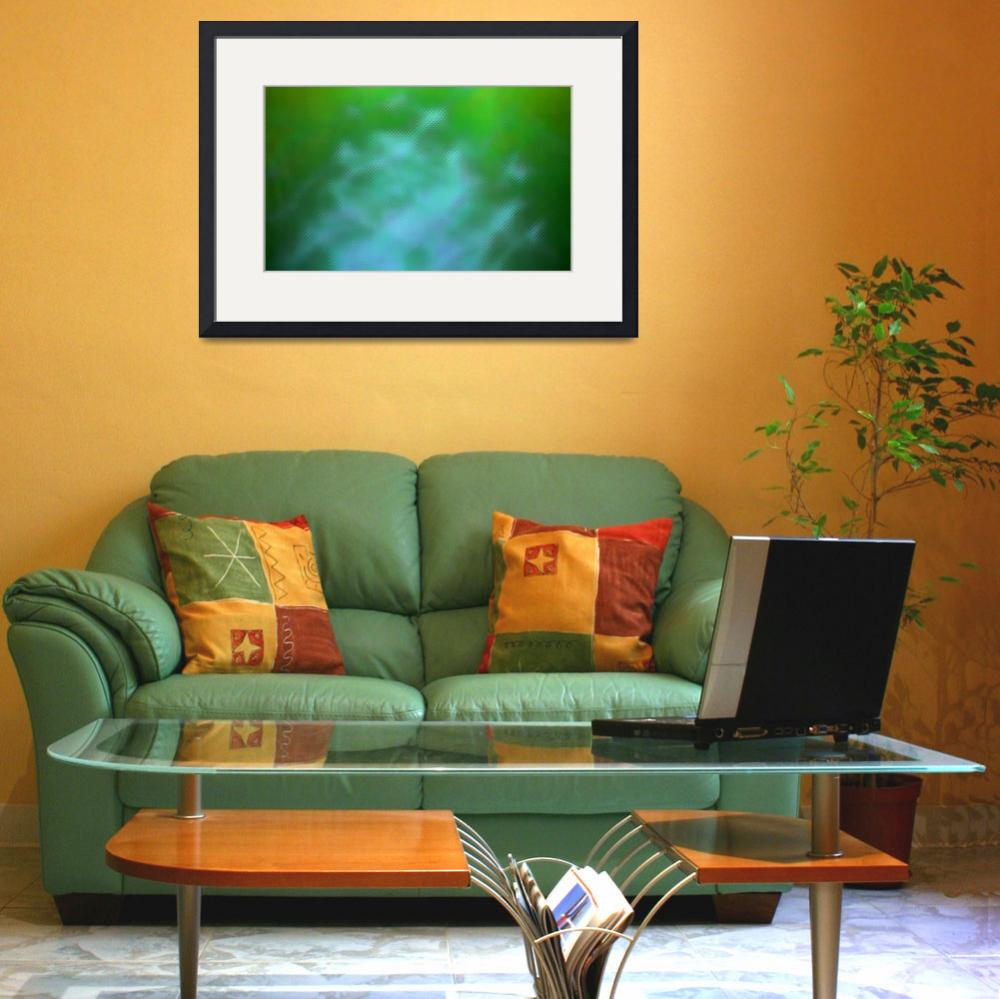 """""""Background waves, green""""  (2010) by Donshots"""