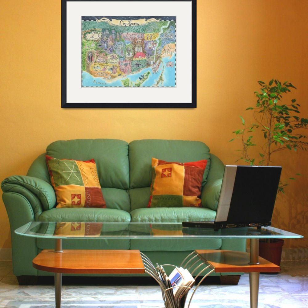 """""""Map of Toronto 2013 Might and Magic Style Print of""""  (2013) by catshrine"""