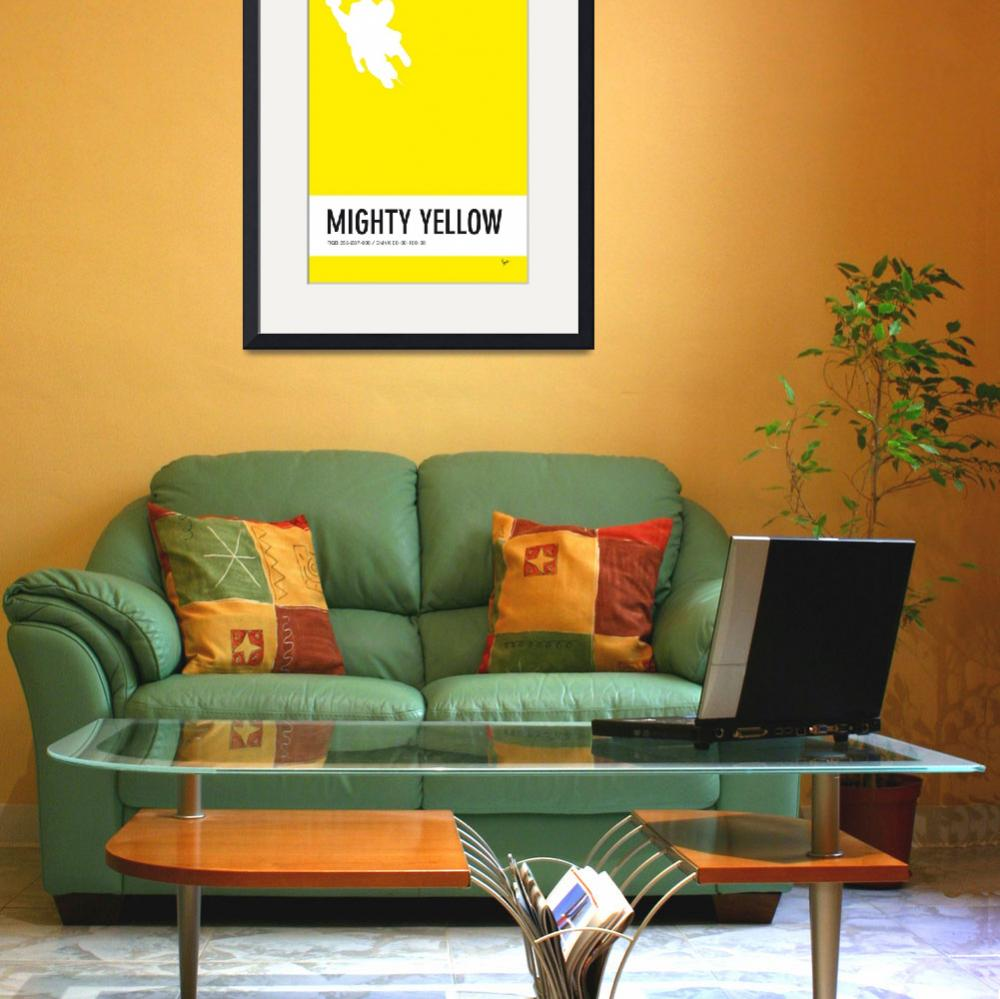 """""""No02 My Minimal Color Code poster Mighty Mouse&quot  by Chungkong"""