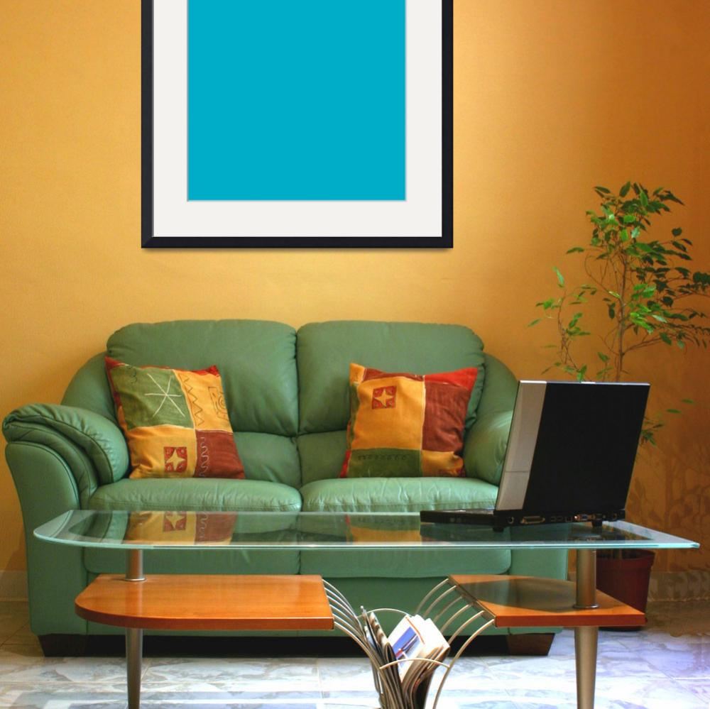"""""""Square PMS-312 HEX-00ADC6 Cyan Blue&quot  (2010) by Ricardos"""