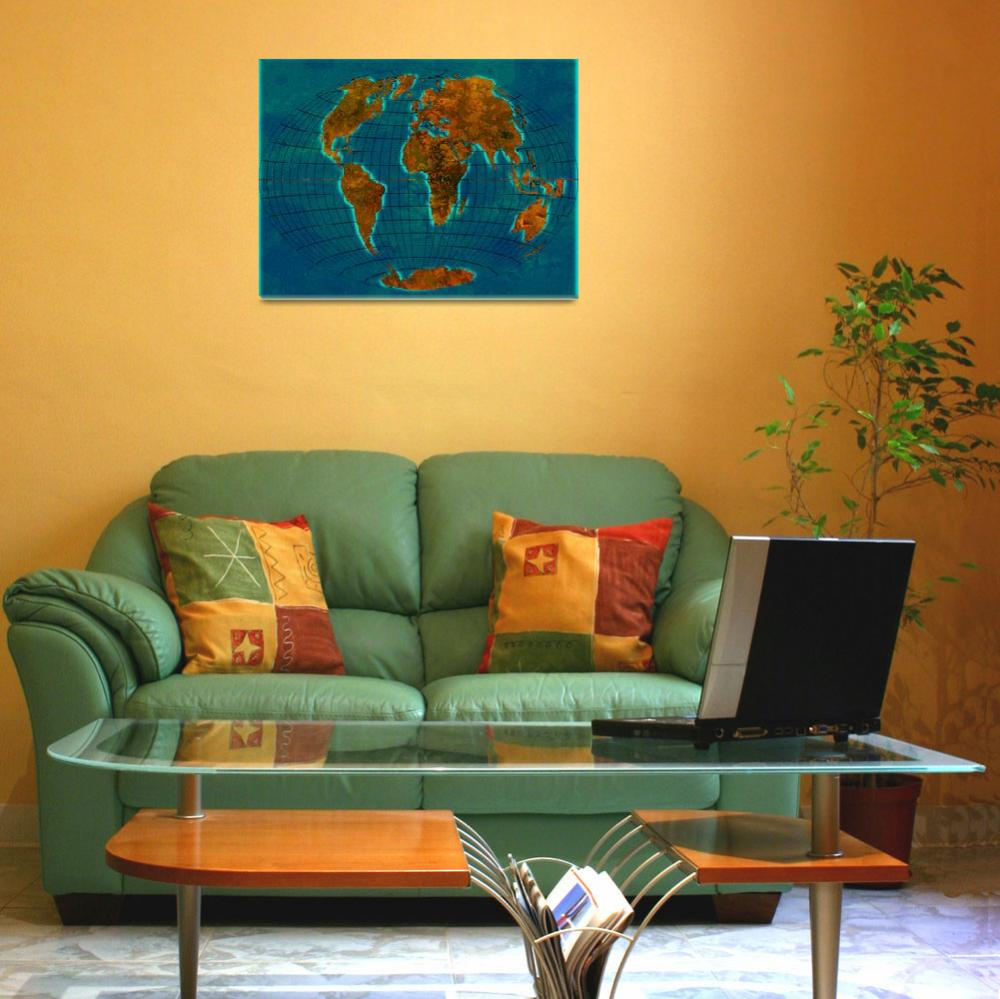 """""""World Map 1c&quot  (2013) by Marian1"""