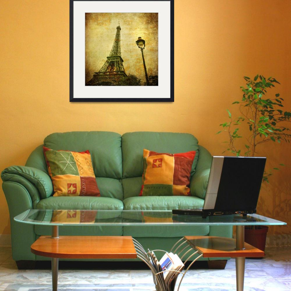 """Vintage image of Eiffel tower, Paris, France""  by kalishko"