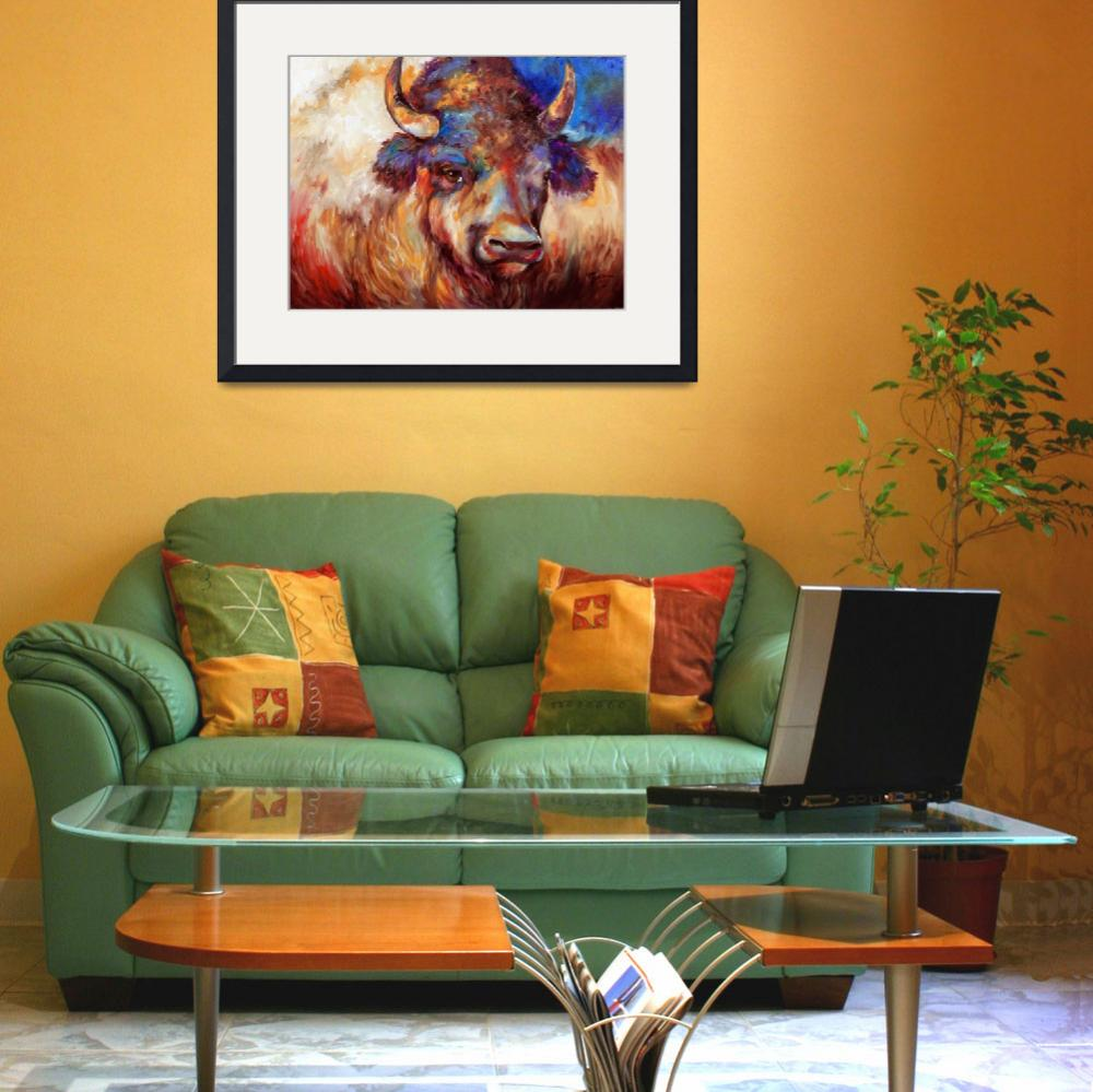 """""""THE WISE ONE BUFFALO""""  (2013) by MBaldwinFineArt2006"""
