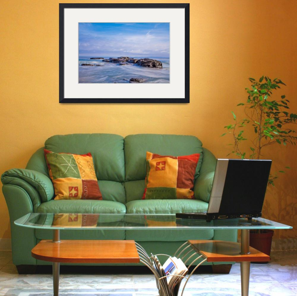 """""""Rocks on the Water&quot  (2014) by printsandimagery"""