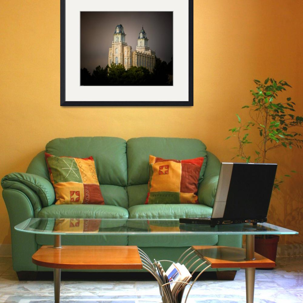 """""""Refuge from the Storm - Manti Utah Temple""""  (2009) by trapane"""
