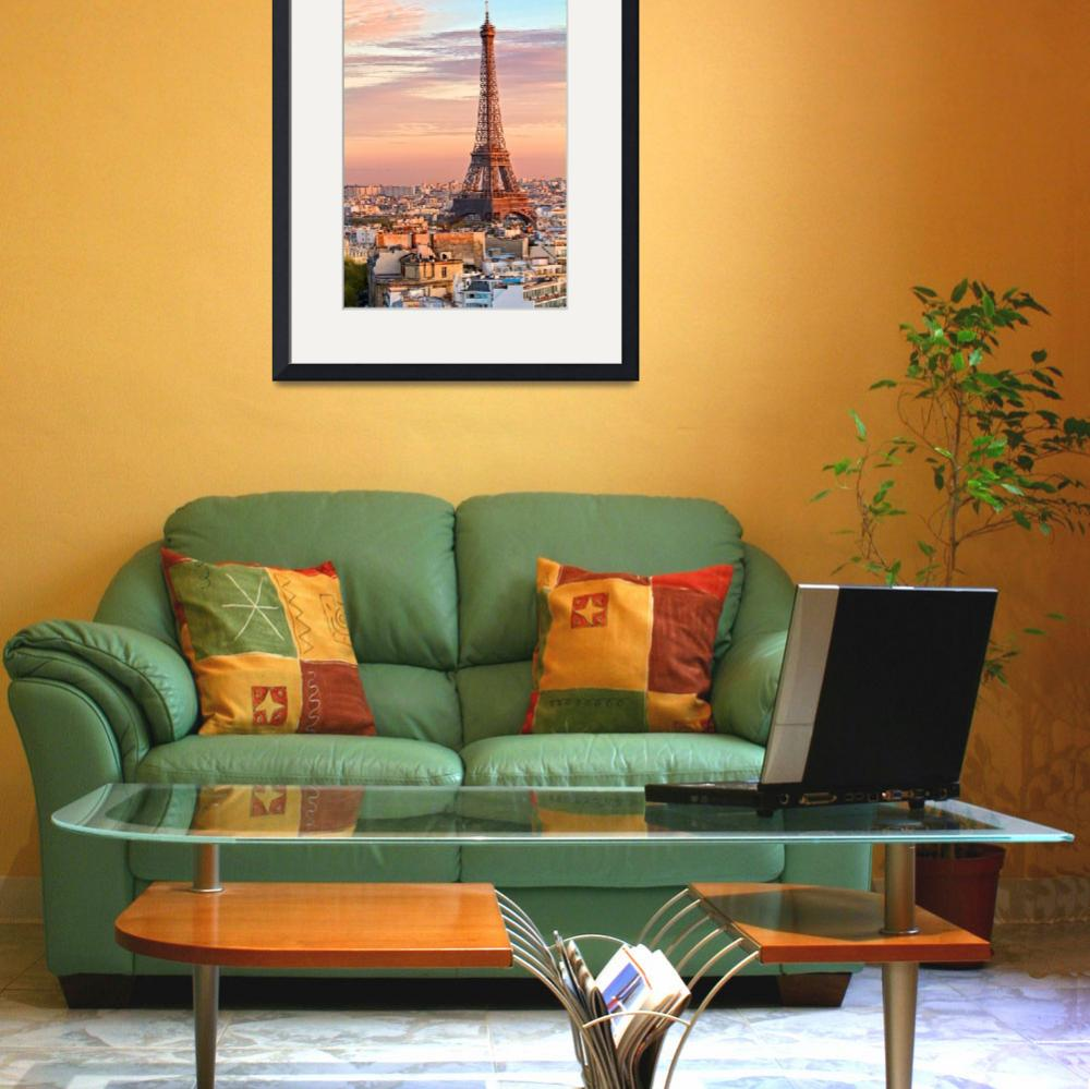 """""""Eiffel Tower at Sunset""""  (2010) by KWphotog"""