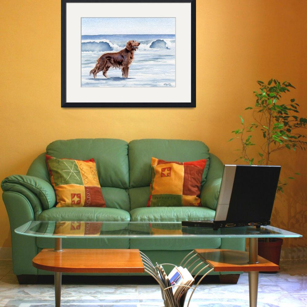 """Irish Setter at the Beach 2&quot  (2015) by k9artgallery"