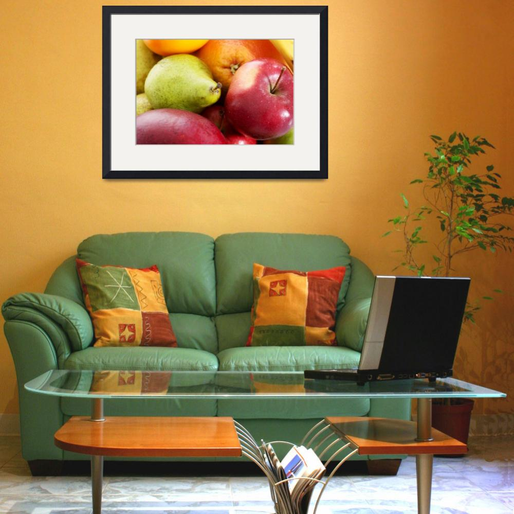 """""""Close up on fruit composition- apples, peaches and""""  by Piotr_Marcinski"""