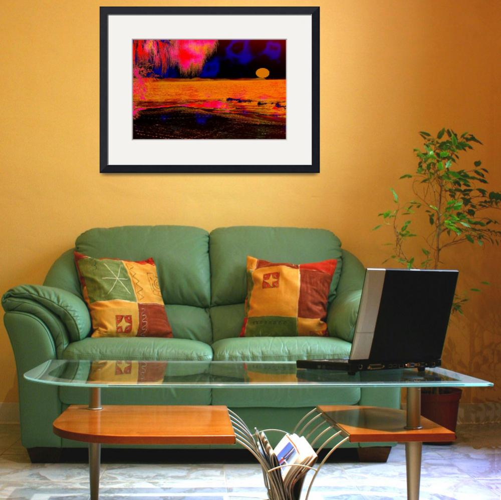 """""""yellow sunset&quot  (2008) by shanmaree"""