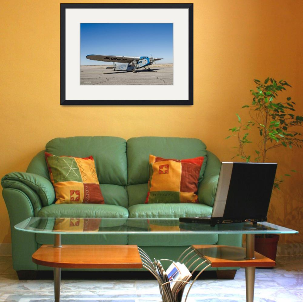 """""""Ford Tri-Motor Taxiing&quot  (2015) by awsheffield"""