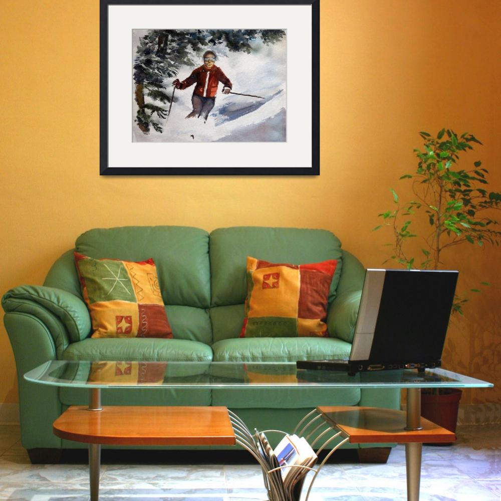 """Skier II&quot  (2012) by AMVaughn"