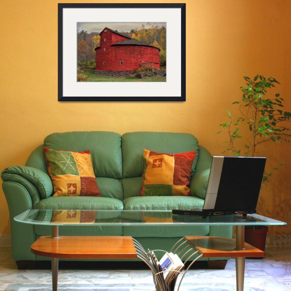 """""""Red Round Barn&quot  (2014) by DBenoit"""