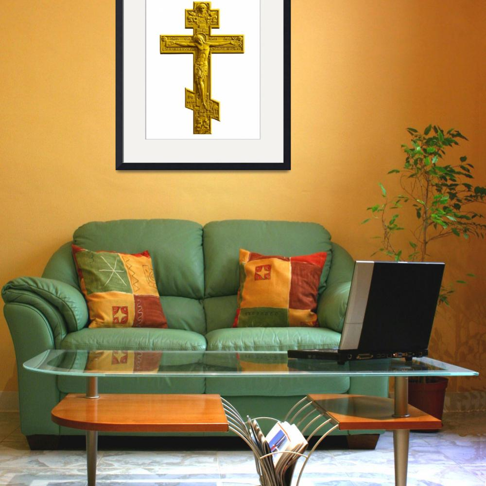 """Russian golden orthodox cross""  (2011) by igorsin"