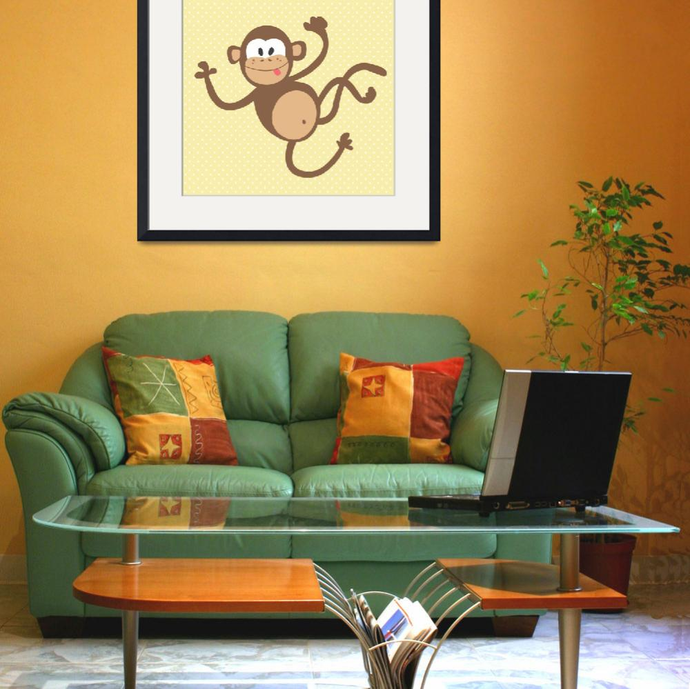 """""""Monkey (yellow)&quot  by littlebubbies"""